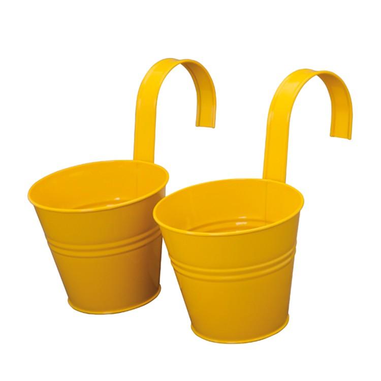 Blumentopf (2er-Set) - gelb, Siena Garden