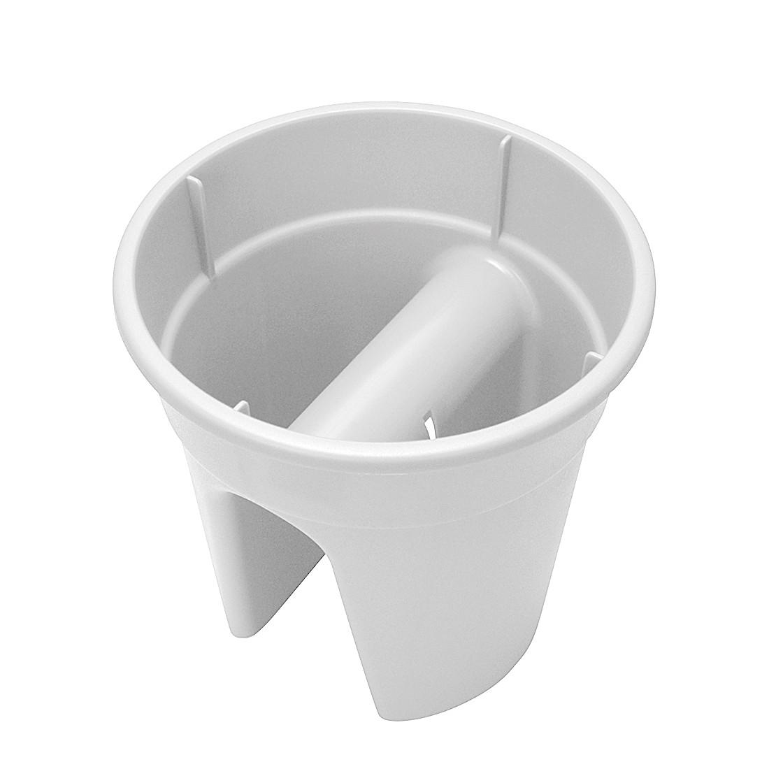 Blumentopf Flowerclip (3er-Set) – Kunststoff Weiß, Khw günstig kaufen