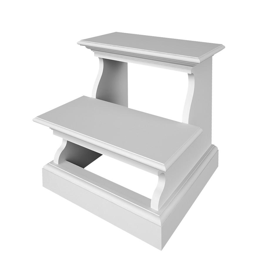 Fioriera portavaso carretto legno anticato bianco per for Scaletta portavasi