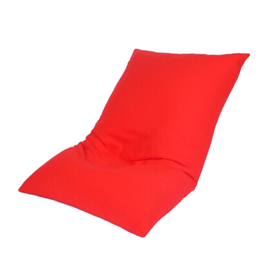 Bodenkissen Baumwolle imprägniert Rot – 130 x 80 cm, KC-Handel günstig kaufen
