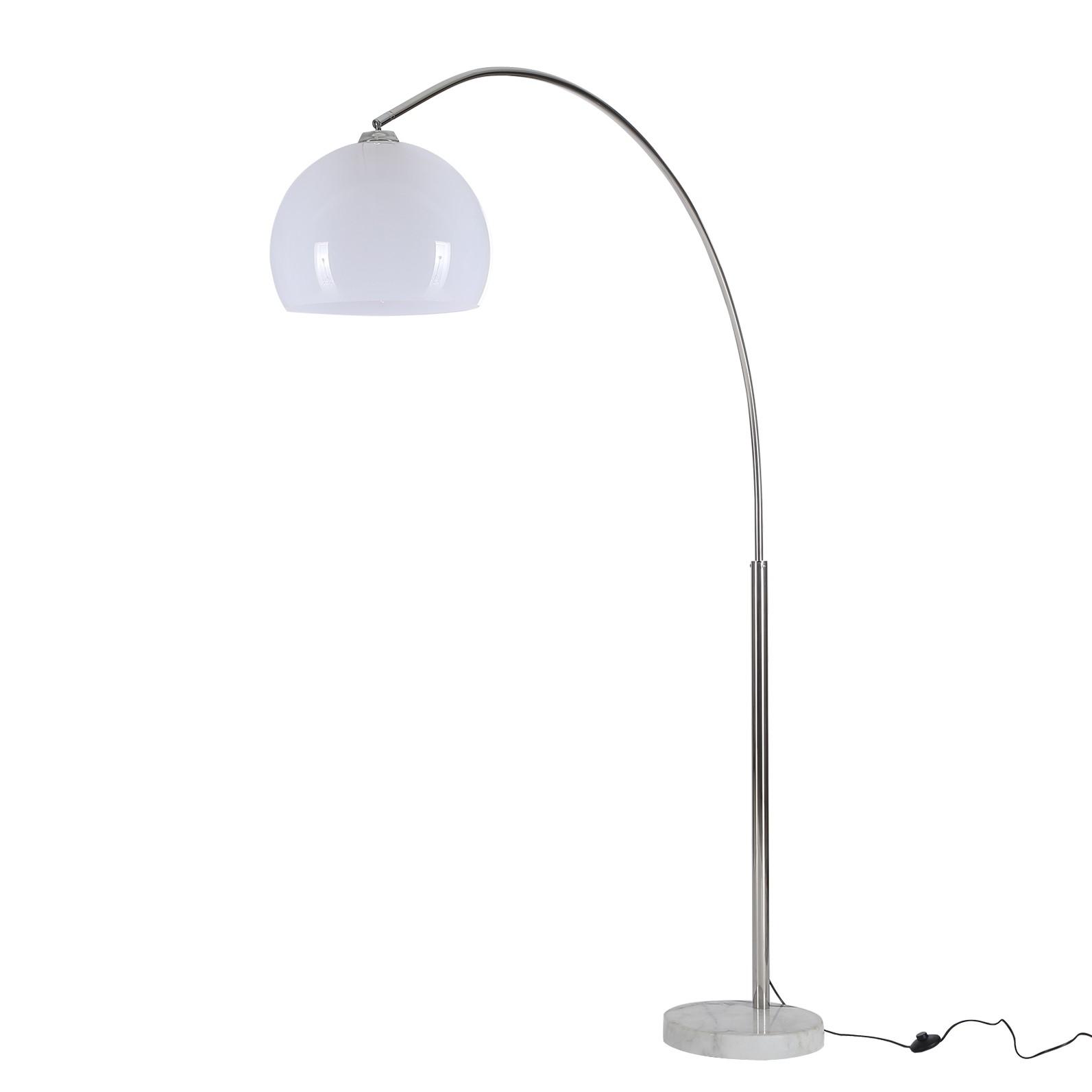 bogenleuchte helsinki metall marmor 1 flammig loistaa a g nstig online kaufen. Black Bedroom Furniture Sets. Home Design Ideas