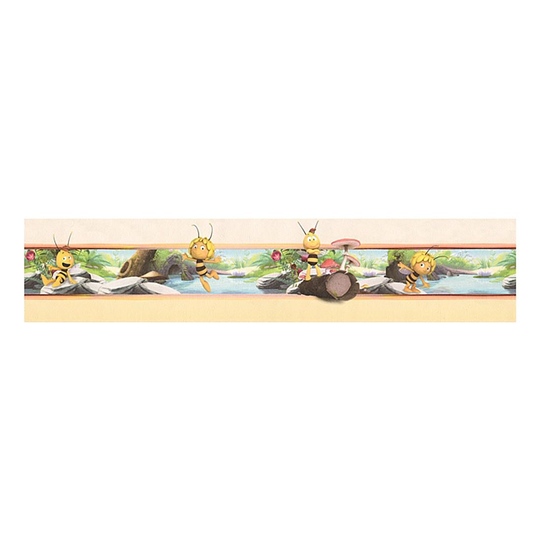 Bordüre Biene Maya – elfenbein – gelb – bunt – selbstklebend – fein strukturiert, Home24Deko günstig bestellen