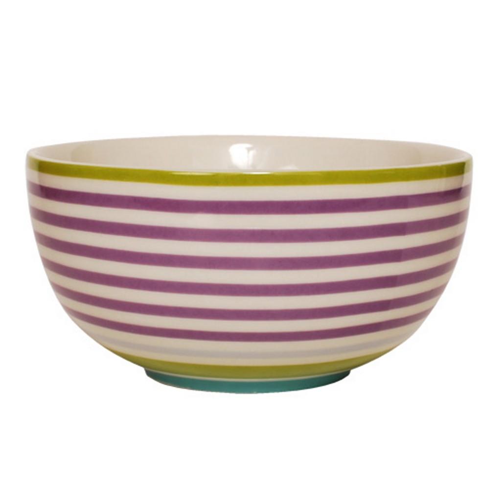 Bowl – Design Stripe Lilac – New Bone China Porzellan – Schale mit Schöne Streifen in Lilafarben, Aspegren Denmark günstig kaufen