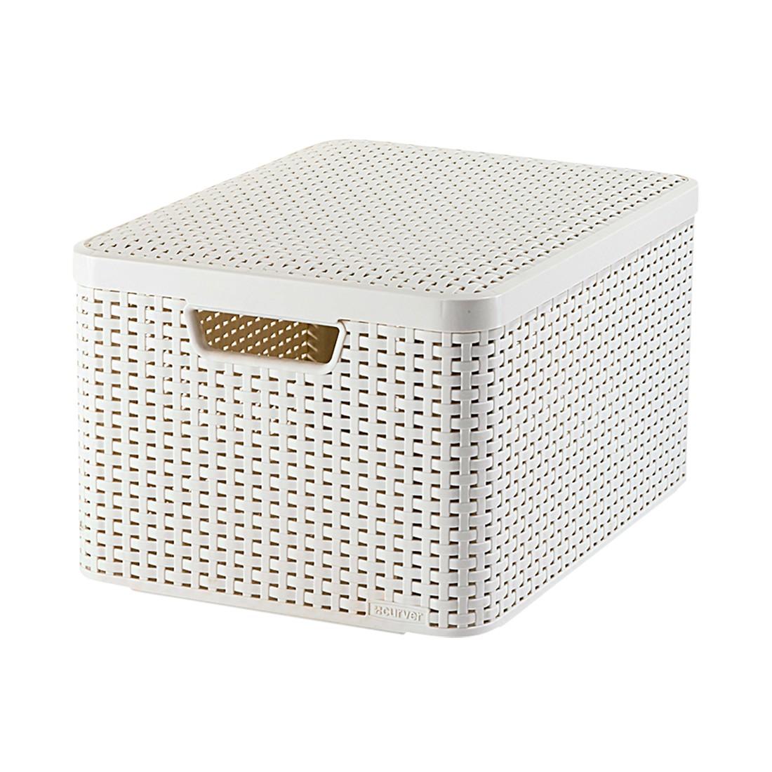 Box Style – Kunststoff Cremé – 29,3 cm 18 Liter 18,7 cm 39,3 cm, Curver günstig bestellen