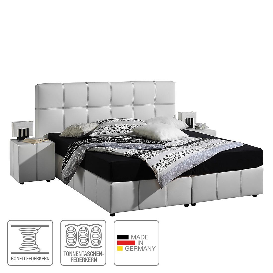 boxsprinbett annabel 140 x 200cm h2 bis 80 kg tonnentaschenfederkernmatratze wei. Black Bedroom Furniture Sets. Home Design Ideas