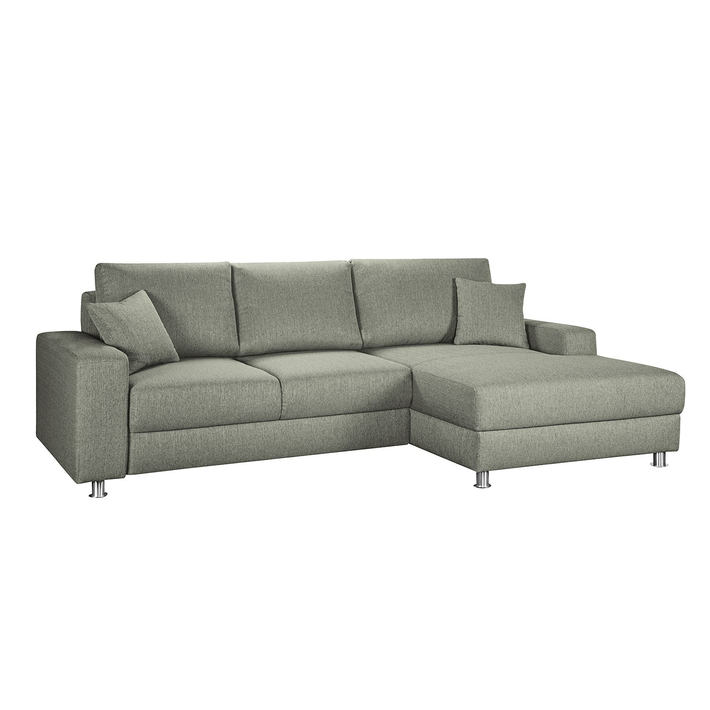 boxspring ecksofa m mbris mit schlaffunktion webstoff longchair ottomane davorstehend. Black Bedroom Furniture Sets. Home Design Ideas