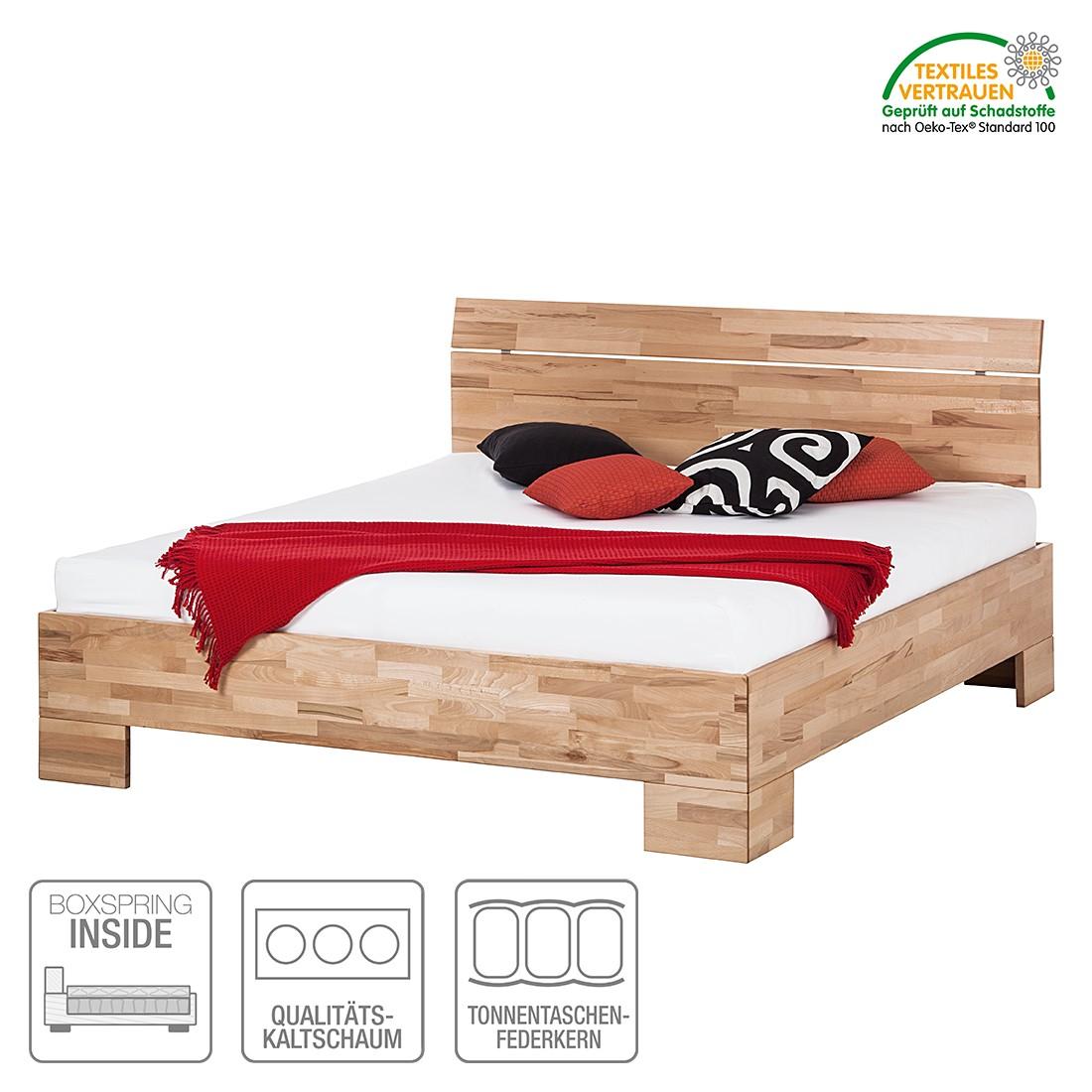 boxspring inside bett tirol ii kernbuche massiv ge lt. Black Bedroom Furniture Sets. Home Design Ideas