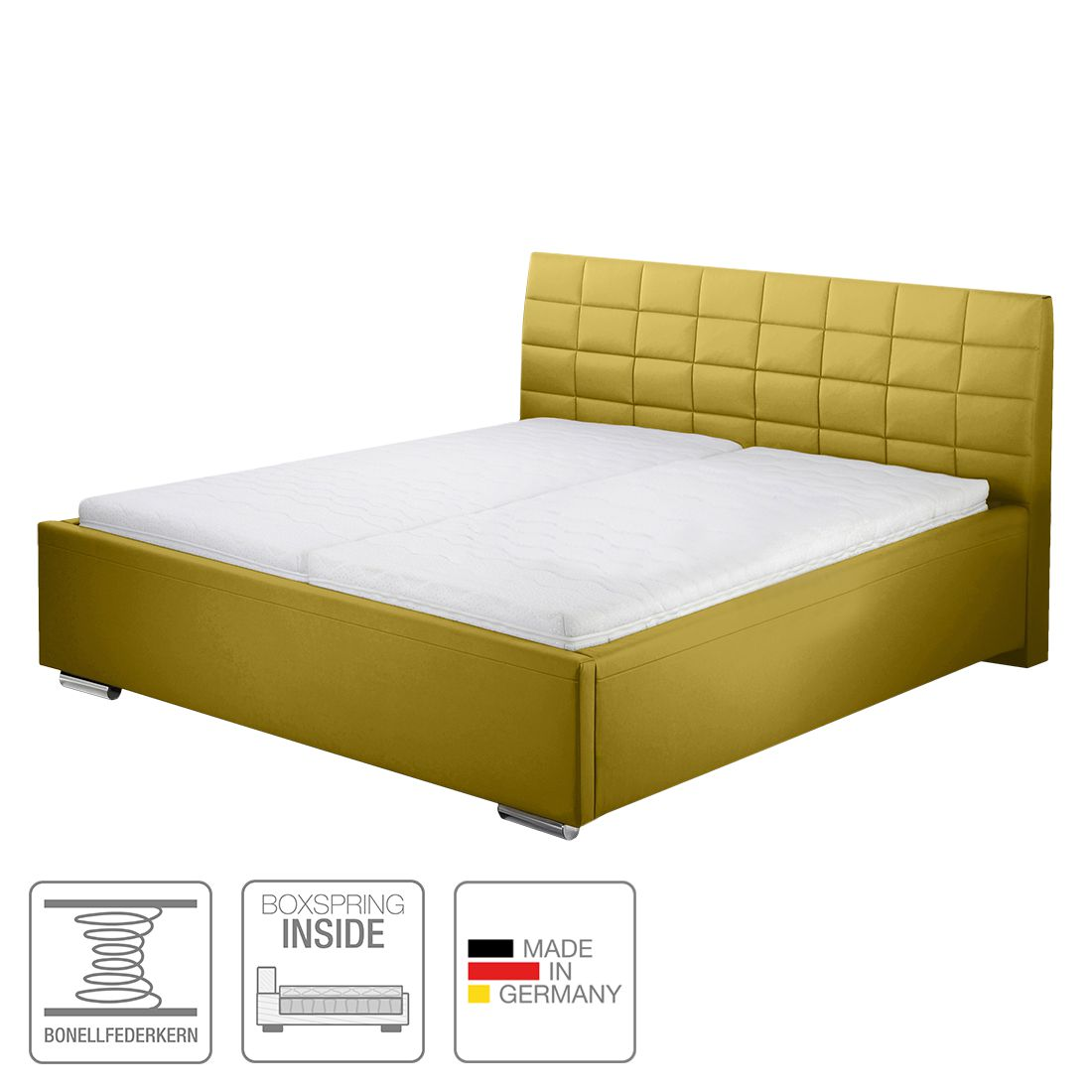 boxspring inside bett victoria kunstleder 140 x 200cm h4 ab 100 kg. Black Bedroom Furniture Sets. Home Design Ideas