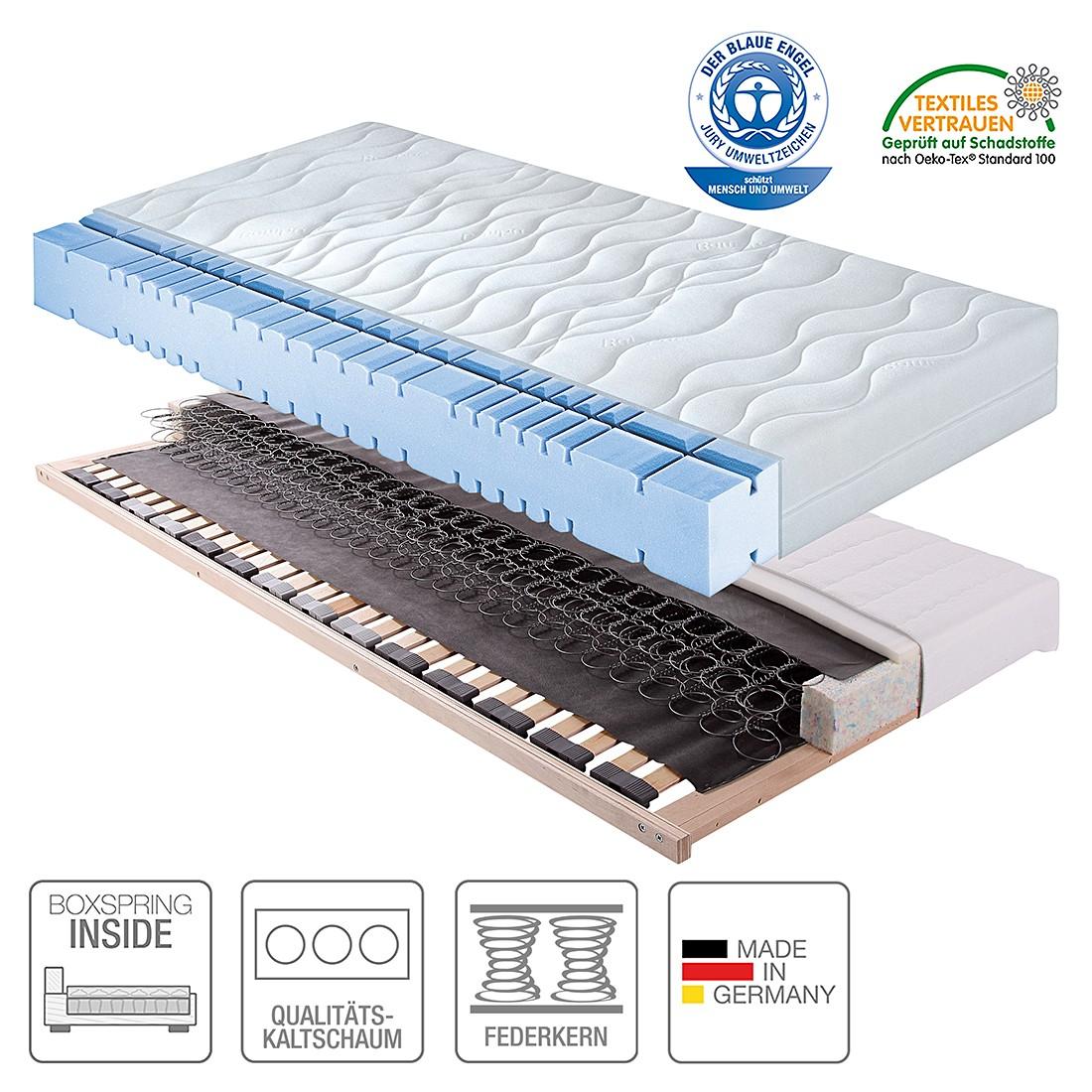 Boxspring Inside System Sleep First Class VIII – 90 x 200cm – H2 bis 100 kg, Breckle günstig
