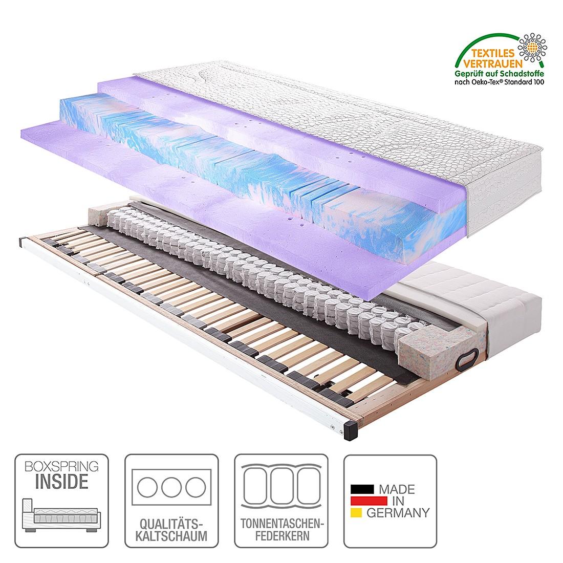 Boxspring Inside System Sleep Luxus VIII – 140 x 200cm – H2 bis 80 kg, Breckle jetzt kaufen