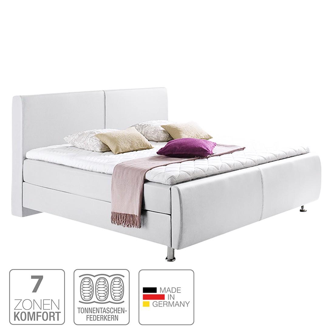 boxspringbett amadeo kunstleder 180 x 200cm h2 bis 80 kg h3 ab 80 kg viscoschaumtopper. Black Bedroom Furniture Sets. Home Design Ideas