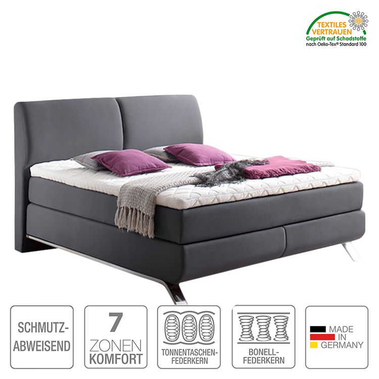 boxspringbett atrium webstoff h2 bis 80 kg h3 ab 80 kg komfortschaum bonellfederkern. Black Bedroom Furniture Sets. Home Design Ideas