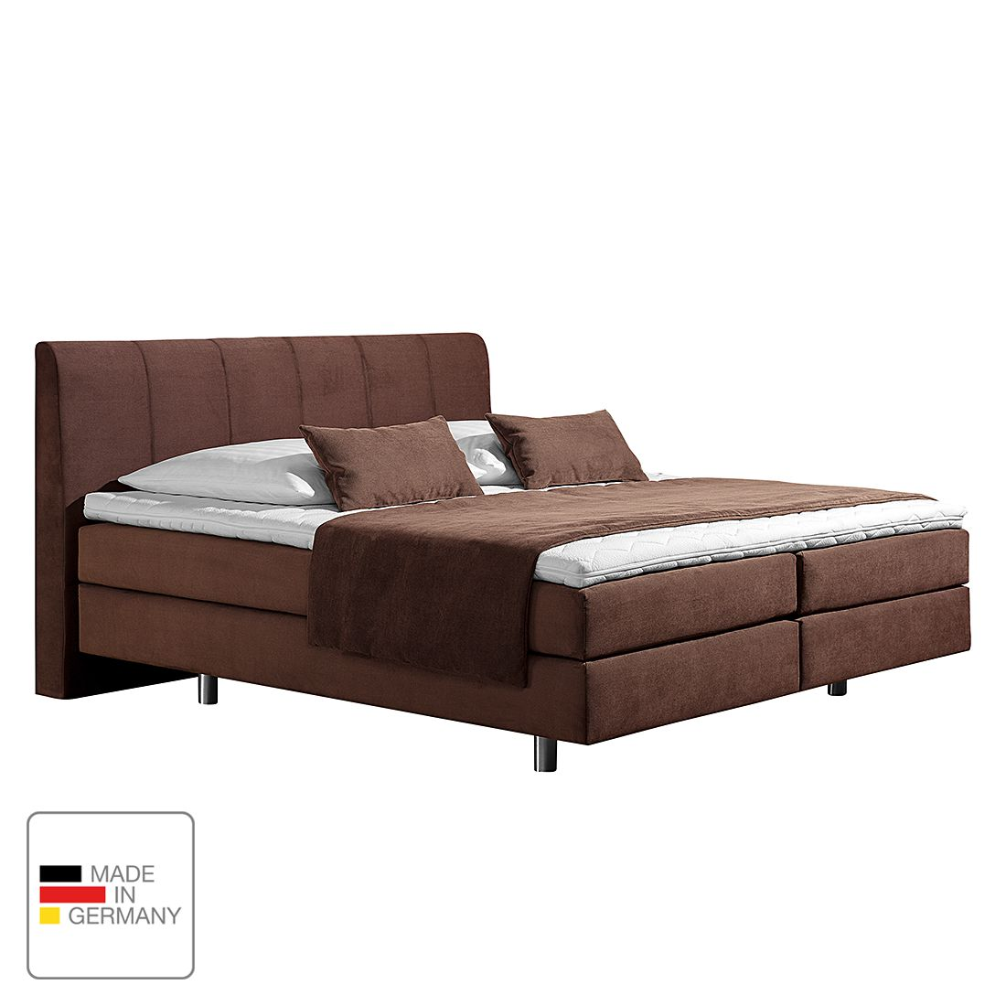 boxspringbett baila webstoff 160 x 200cm h2 bis 80 kg bonellfederkernmatratze. Black Bedroom Furniture Sets. Home Design Ideas