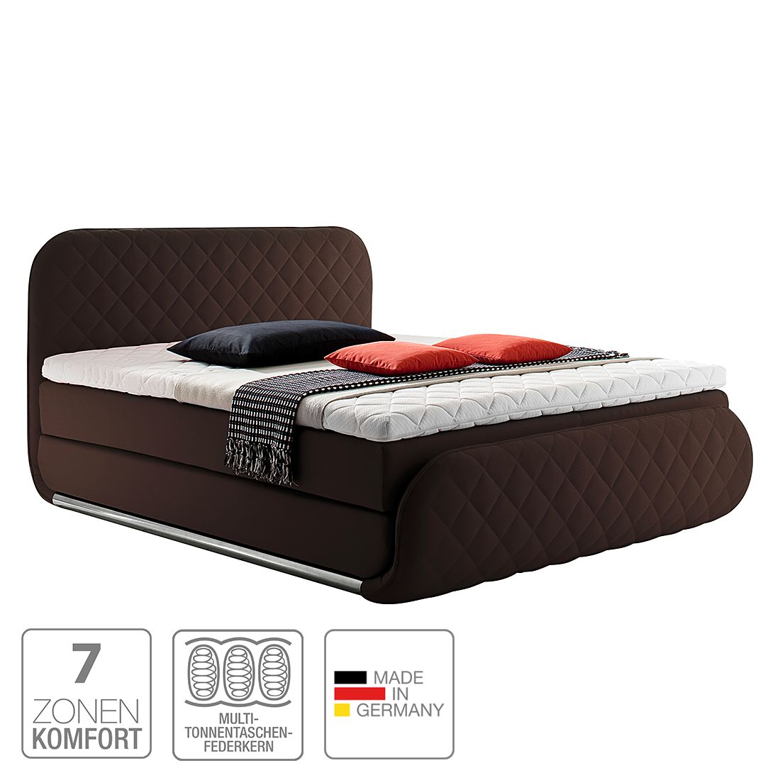 boxspringbett casario webstoff h2 bis 80 kg h3 ab 80 kg viscoschaumtopper. Black Bedroom Furniture Sets. Home Design Ideas