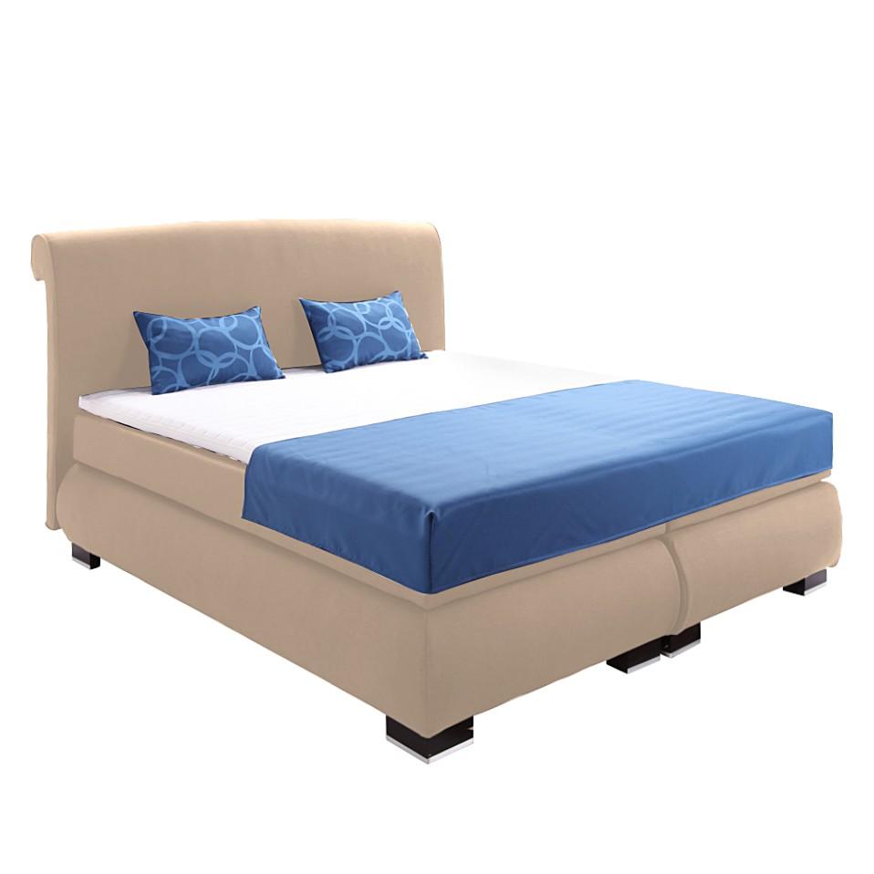 boxspringbett clarissa inklusive topper strukturstof. Black Bedroom Furniture Sets. Home Design Ideas