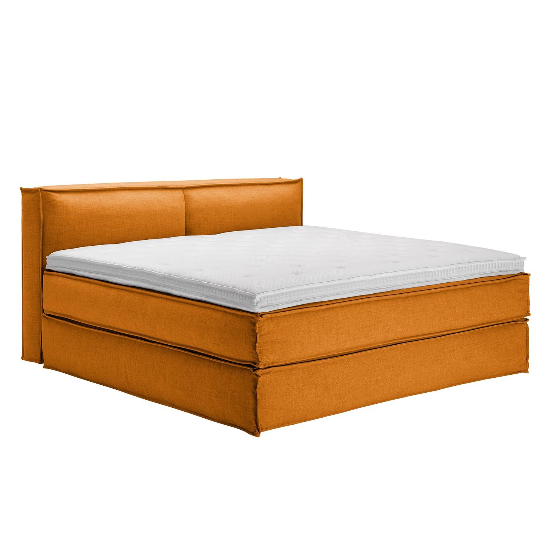 Boxspringbett Kinx - Webstoff - Orange - 100 cm - 200 x 220 cm, Kinx