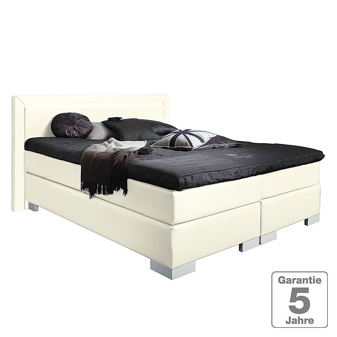 boxspringbett maila kunstleder 140 x 200cm h2 bis 80 kg creme nova dream sleepline. Black Bedroom Furniture Sets. Home Design Ideas