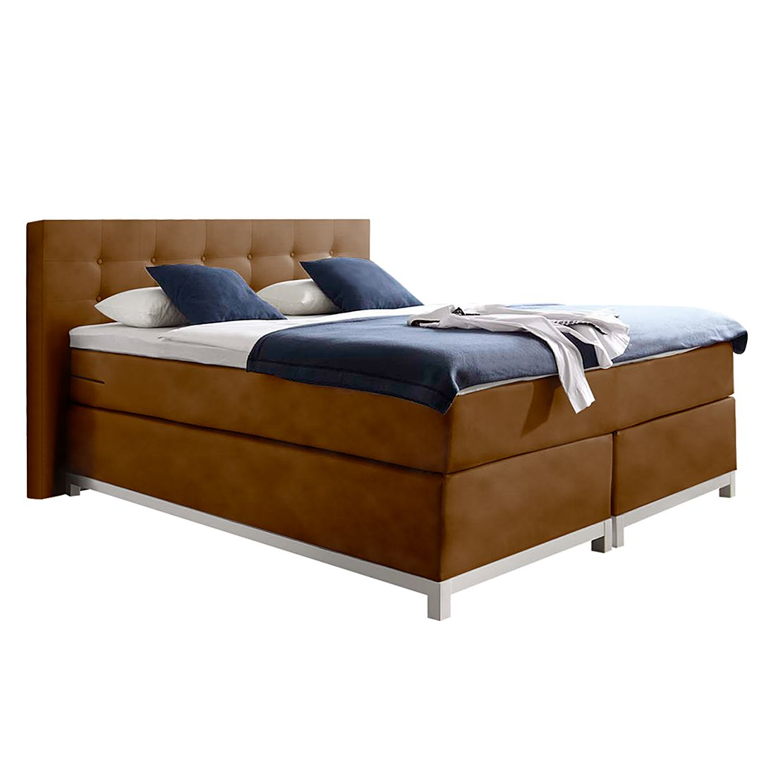 boxspringbett male kunstleder 100 x 200cm h3 ab 80 kg vintage cognac nova dream. Black Bedroom Furniture Sets. Home Design Ideas