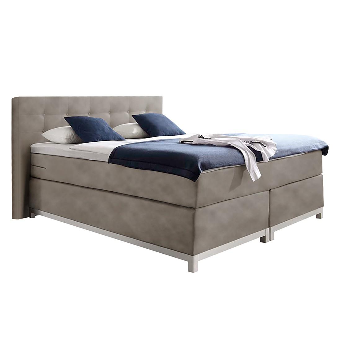 boxspringbett male kunstleder 140 x 200cm h3 ab 80 kg vintage sand nova dream sleepline. Black Bedroom Furniture Sets. Home Design Ideas
