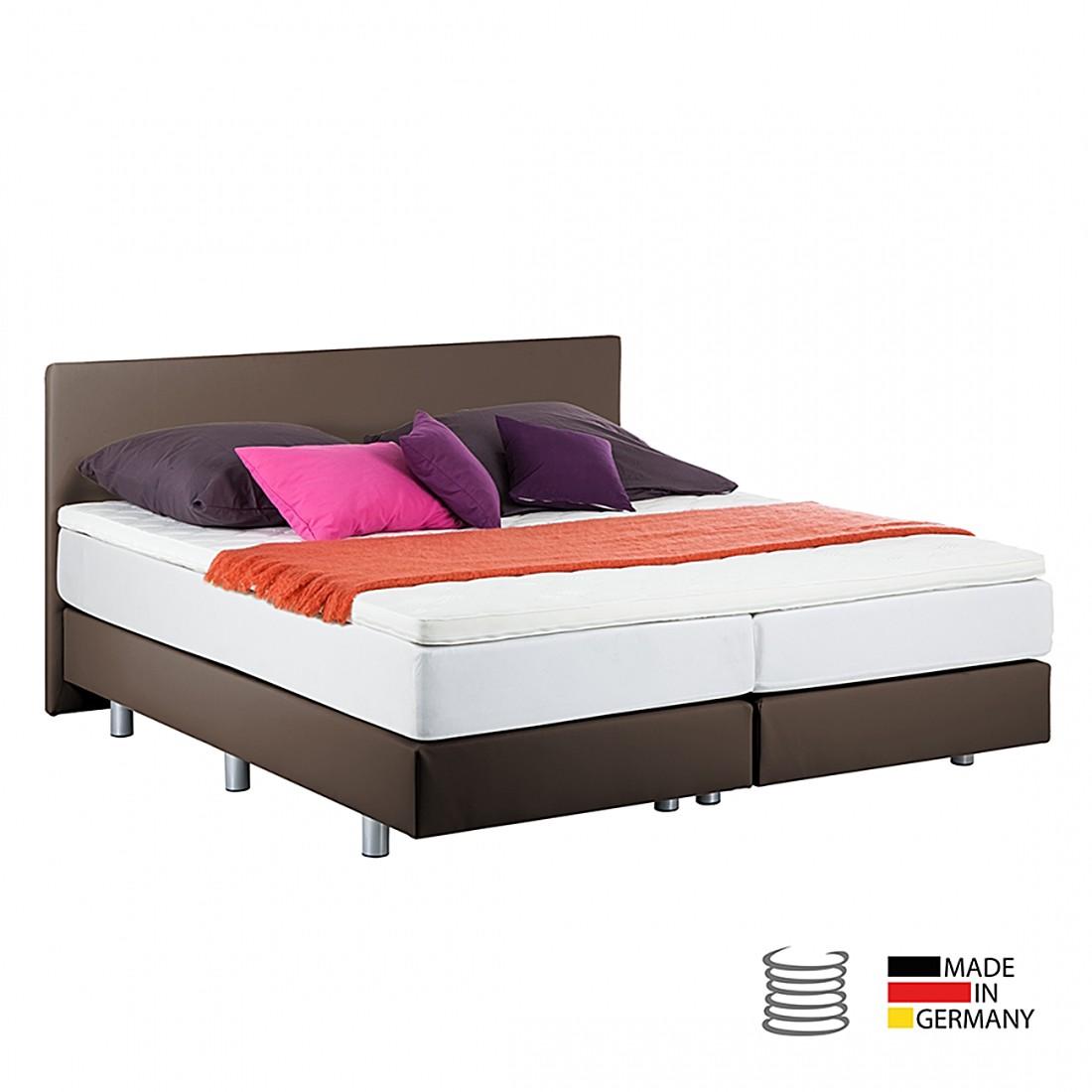 boxspringbett ramona inklusive topper kunstleder 140 x 200cm braun breckle g nstig. Black Bedroom Furniture Sets. Home Design Ideas