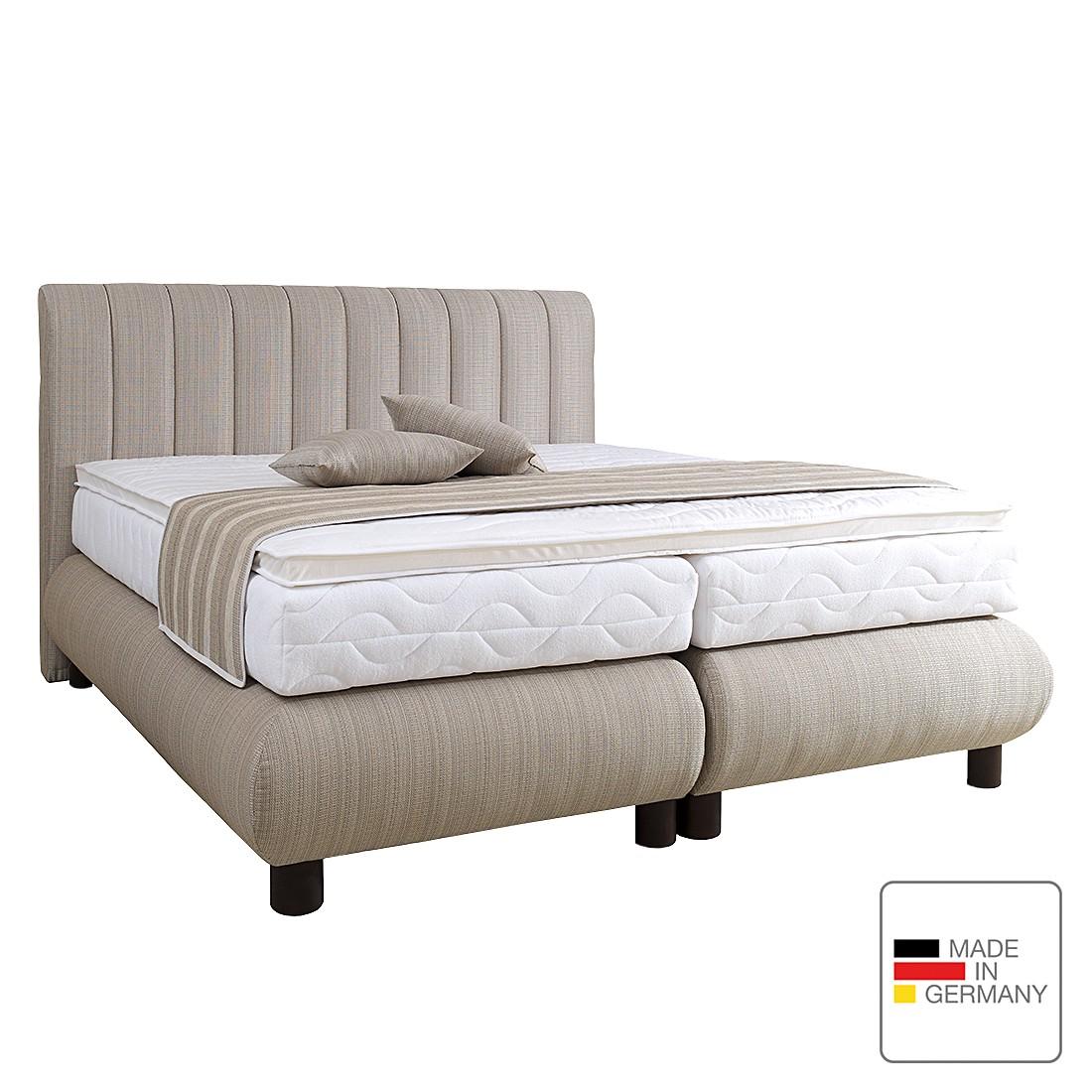 boxspringbett romeo strukturstoff 160 x 200cm h2 bis 80 kg visco kaltschaummatratze. Black Bedroom Furniture Sets. Home Design Ideas