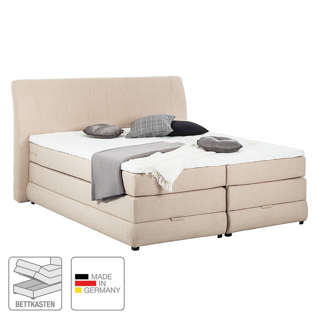 Boxspringbett Savoy – inklusive Topper – Webstoff – 160 x 200cm – H3 ab 80 kg – Beige, Art of Sleep jetzt kaufen