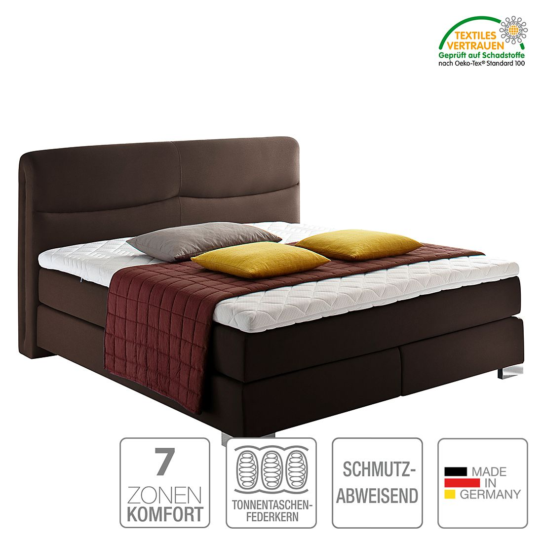 boxspringbett scala webstoff h2 bis 80 kg h3 ab 80 kg kaltschaumtopper. Black Bedroom Furniture Sets. Home Design Ideas
