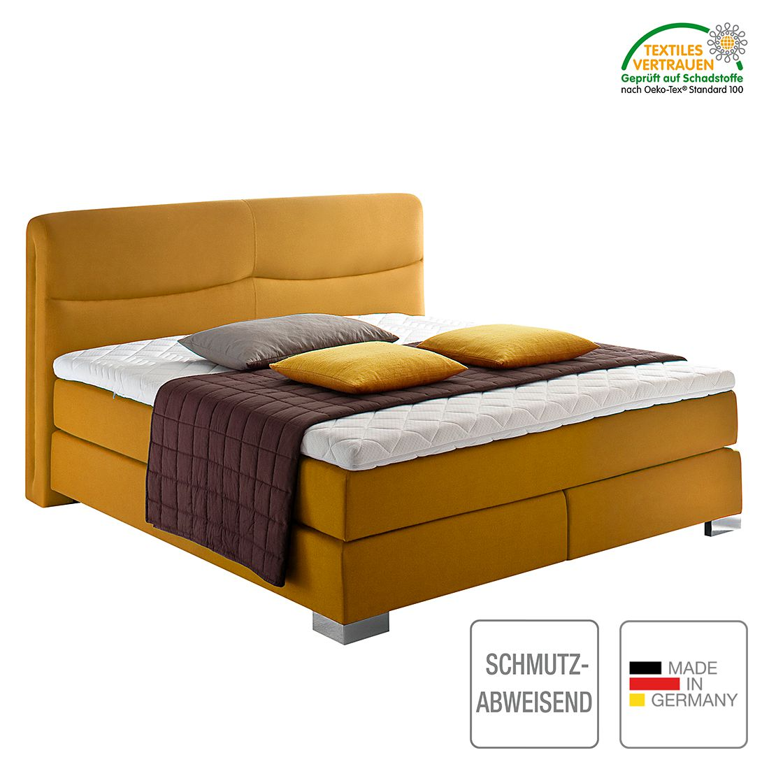 boxspringbett scala webstoff h2 bis 80 kg kaltschaumtopper bonellfederkern multi. Black Bedroom Furniture Sets. Home Design Ideas