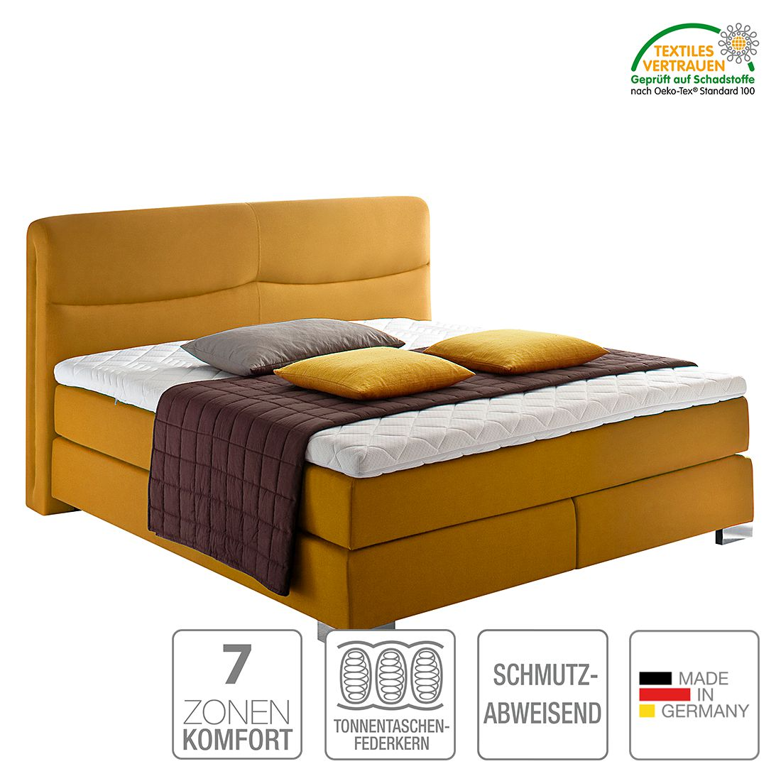 boxspringbett scala webstoff h3 ab 80 kg kaltschaumtopper bonellfederkern multi. Black Bedroom Furniture Sets. Home Design Ideas