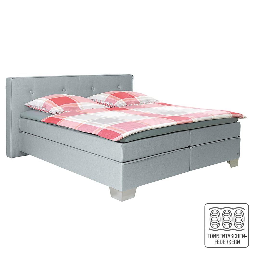 Boxspringbett Soft Box - Webstoff - 160 x 200cm - H3 ab 80 kg - Hellgrau, Tom Tailor