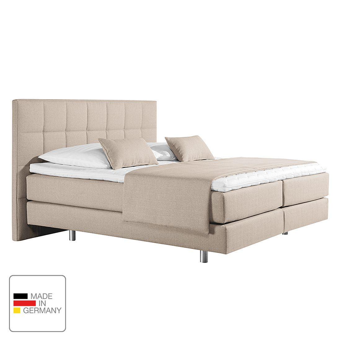 monaco boxspringbett tevin webstoff 160 x 200cm h3 ab 80 kg. Black Bedroom Furniture Sets. Home Design Ideas