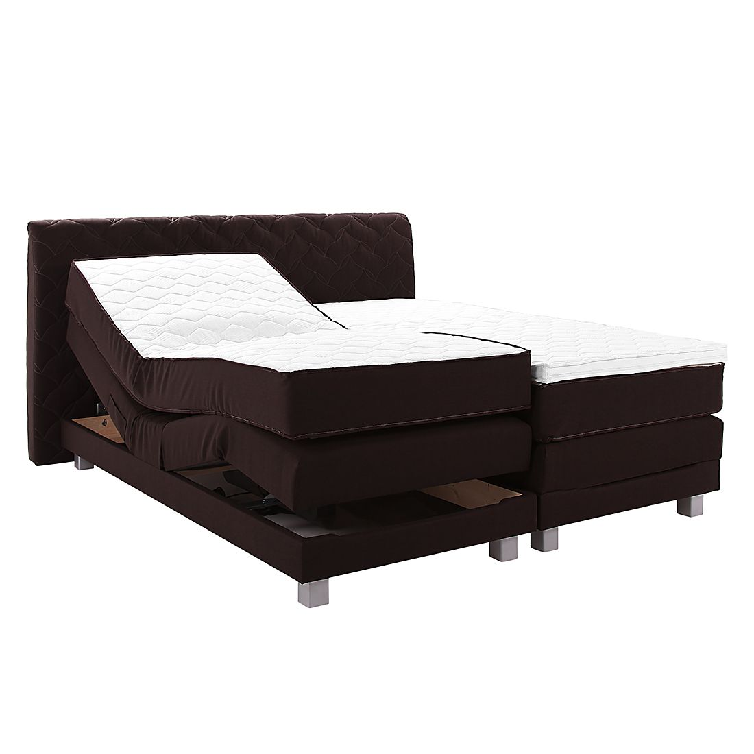 boxspringbett yannis mit elektromotor inklusive topper 160 x 200cm h2 bis 80 kg nova. Black Bedroom Furniture Sets. Home Design Ideas