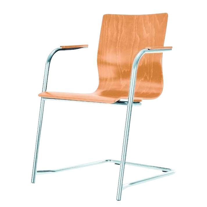 Besucherstuhl Braccio – mit Armlehnen – Sitzauflage: Natur/Buche, Nowy Styl kaufen