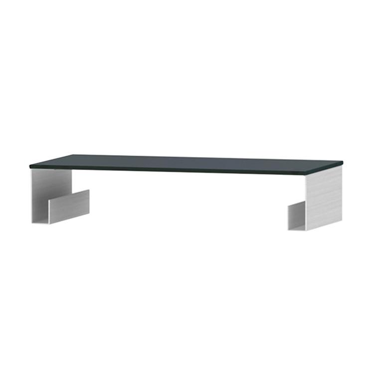 TV-Aufsatz Z-FGA - Aluminium / Glas Schwarz - 60 cm, Jahnke
