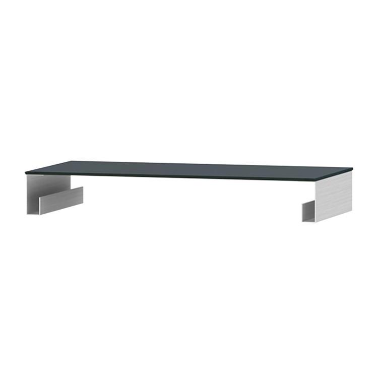 TV-Aufsatz Z-FGA - Aluminium / Glas Schwarz - 80 cm, Jahnke
