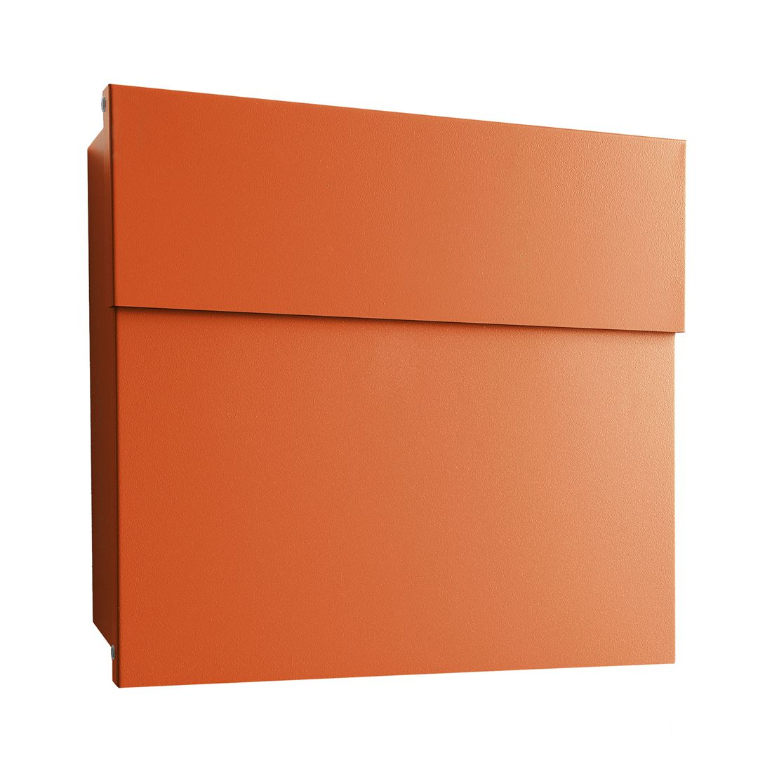Briefkasten Letterman IV Wandversion - Stahl Pulverbeschichtet Orange, Radius