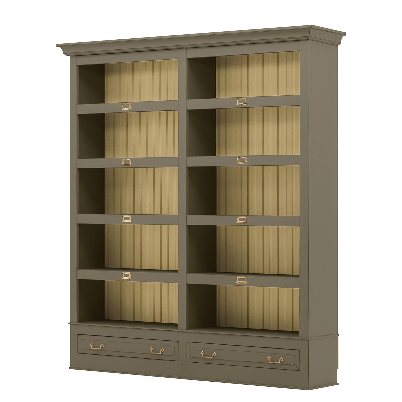 Bücherregal Azjana I - Pinie teilmassiv - Granit / Pinie Creme, Maison Belfort