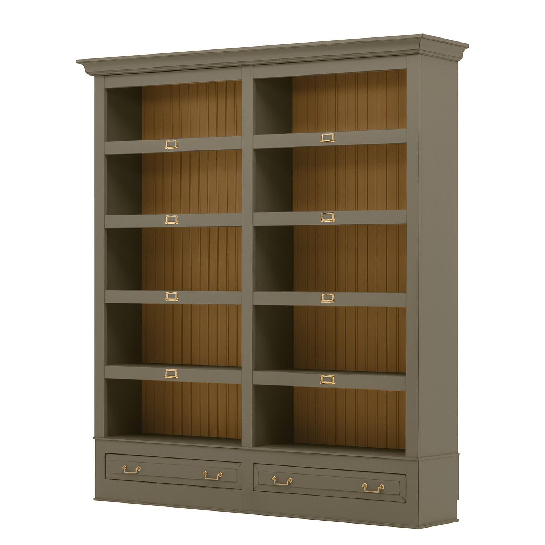 Bücherregal Azjana I - Pinie teilmassiv - Granit / Pinie Honig, Maison Belfort