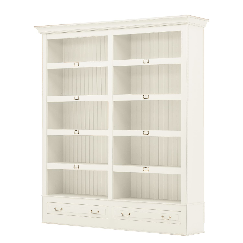 Bücherregal Azjana I - Pinie teilmassiv - Pinie weiß lackiert, Maison Belfort