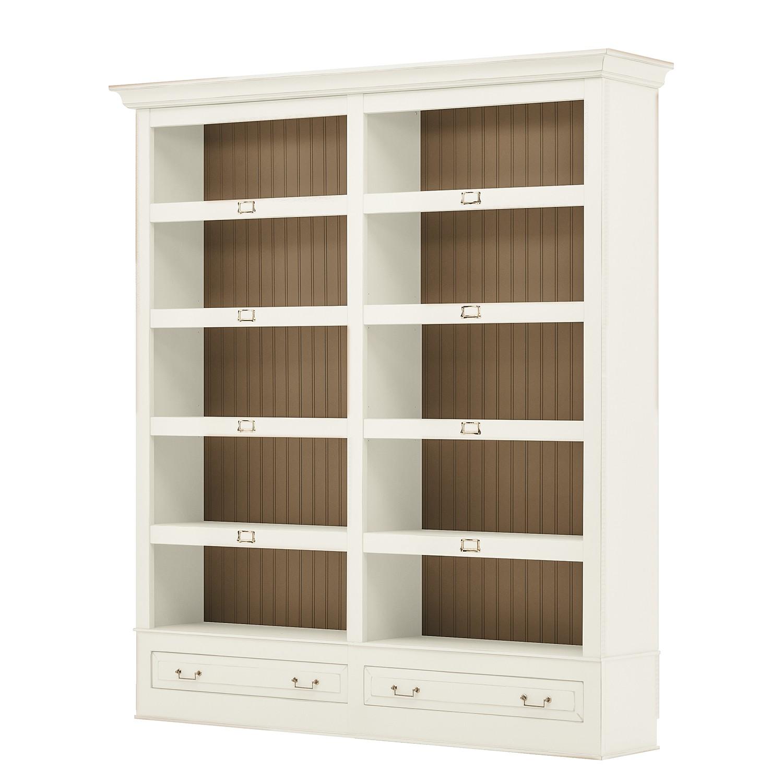 Bücherregal Azjana I - Pinie teilmassiv - Pinie Weiß / Pinie Honig, Maison Belfort