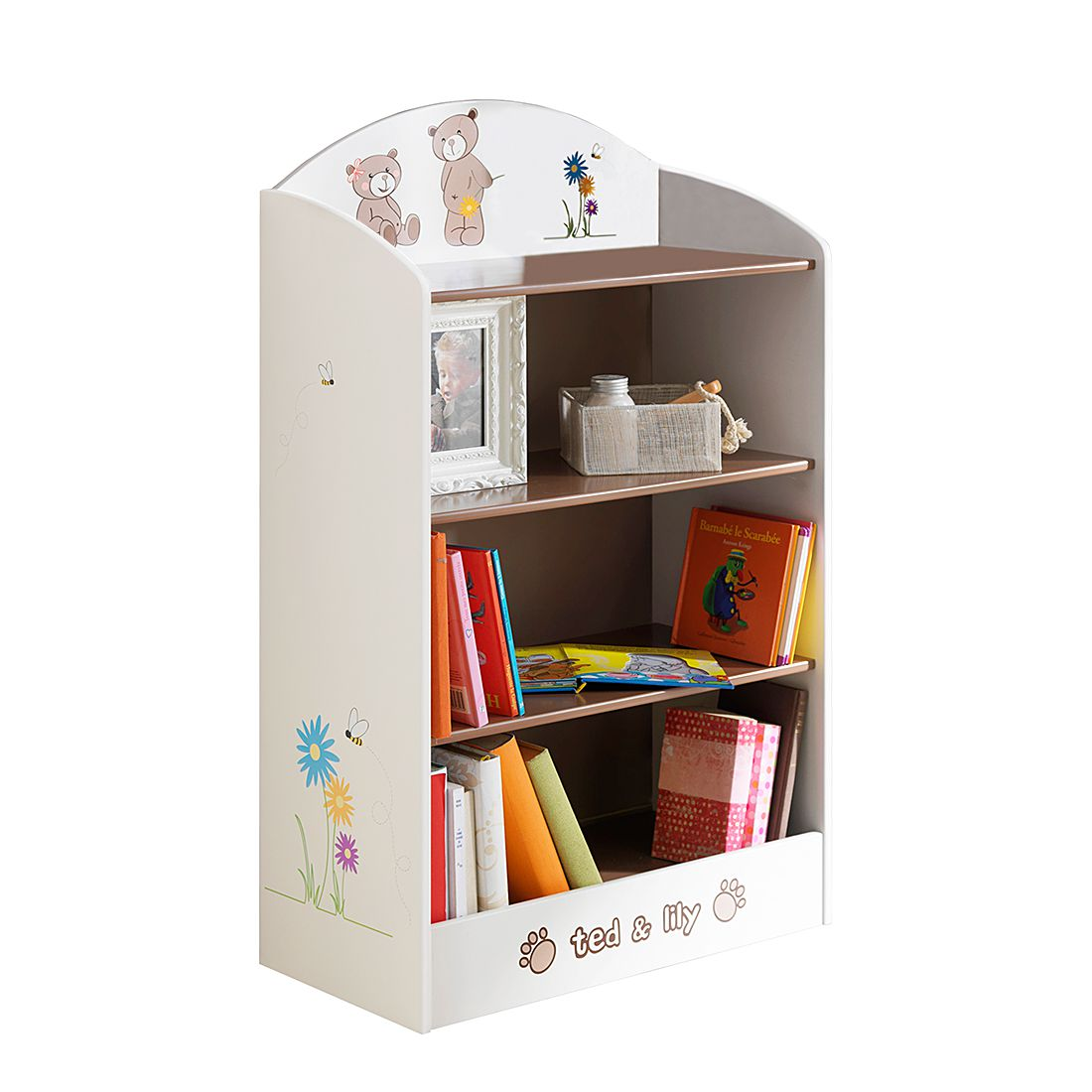 Bücherregal Ted – Beige/Chocolat, Kids Club Collection bestellen