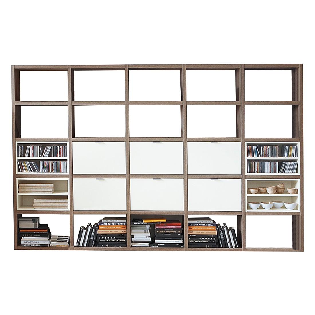 Bücherregal Cospaia I - Eiche Dekor/Weiß