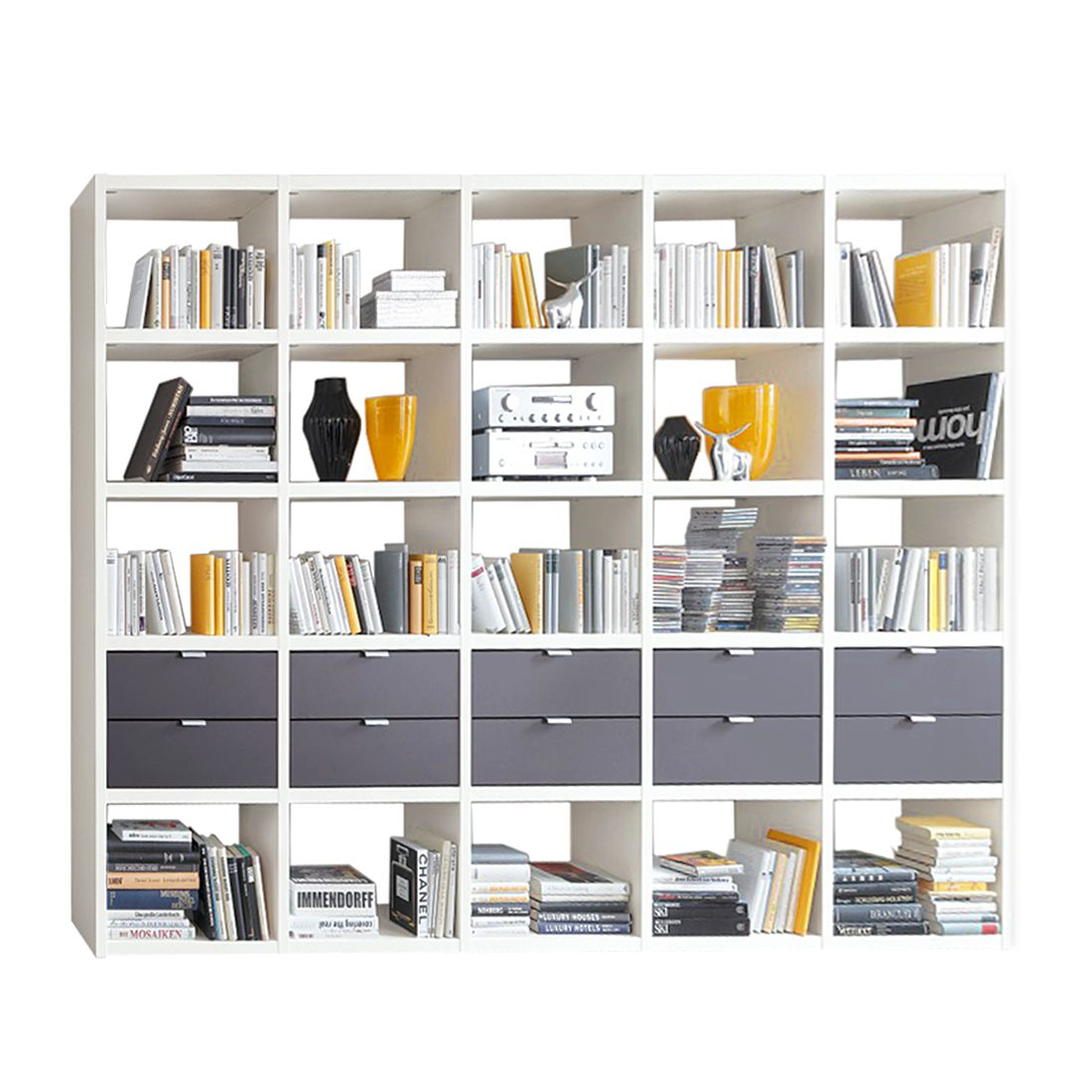 Bücherregal Cospaia I - Weiß/Anthrazit