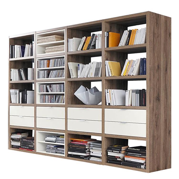 Bücherregal Cospaia II - Eiche Dekor/Weiß