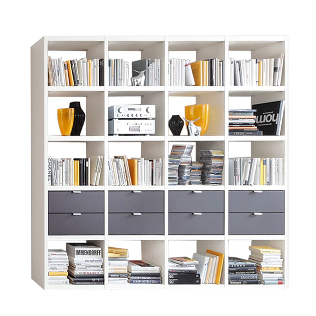 Bücherregal Cospaia II - Weiß/Anthrazit