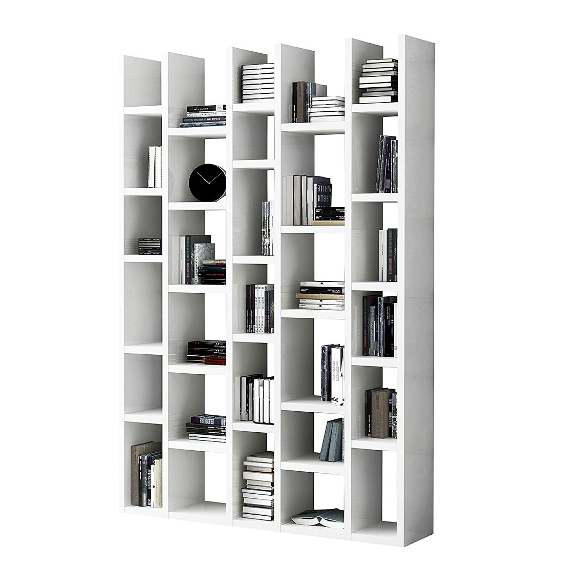 Bücherregal Emporior I - Weiß (Matt Weiß)