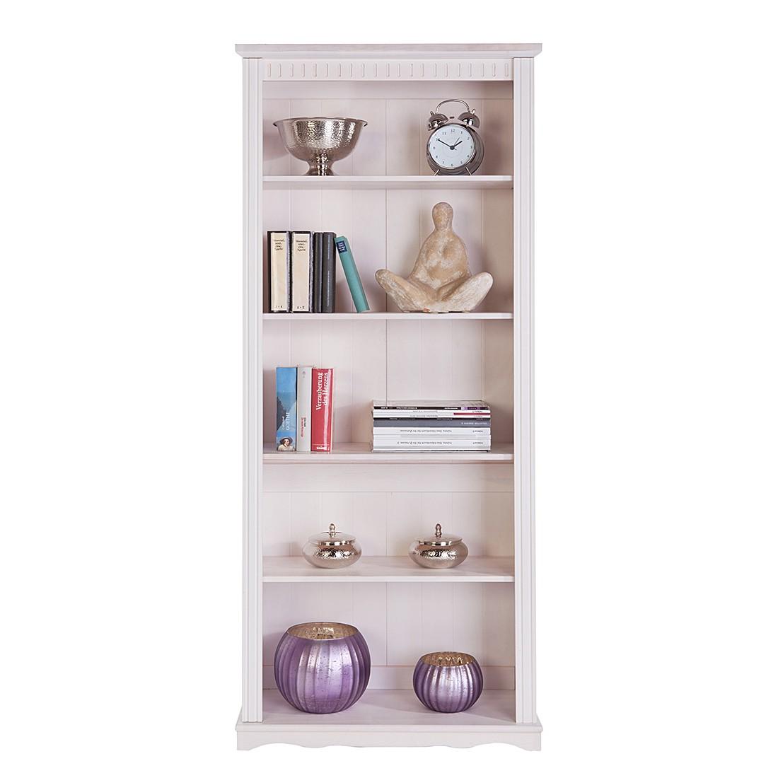 Bücherregal Libro- Fichte massiv - Weiß