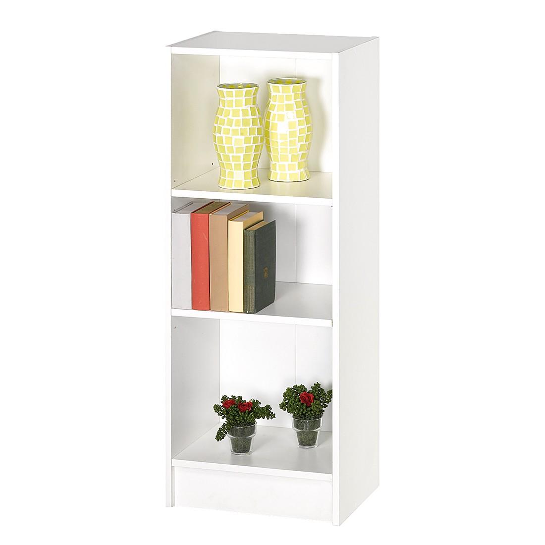 Bücherregal Montijo – Weiß – 77,9 x 200,0 x 29,4 cm, California günstig bestellen