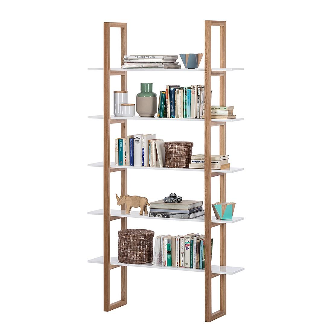 Bücherregal Store – Eiche teilmassiv – Weiß, Mørteens kaufen