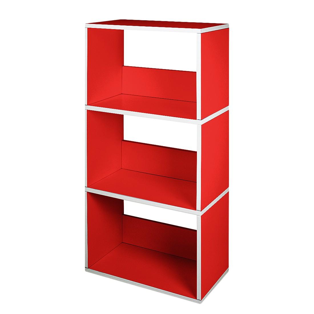 Bücherregal Triplet Rot, waybasics günstig online kaufen
